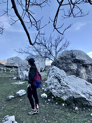 Bovilla reservoir Tirana Albania Leggings Hiking