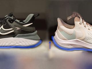 flared heel Nike sneakers